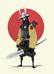 Concept illustration of samurai