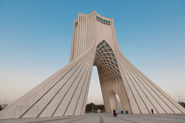 Azadi Tower in Tehran Iran