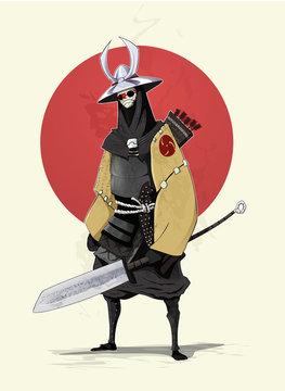 Concept illustration of samurai