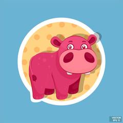 Little baby pink hippopotamus