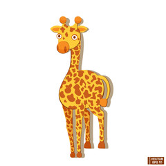 Yellow giraffe ,animal from zoo