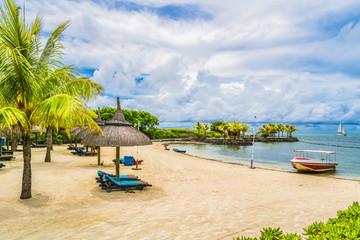 Wall Mural - Public beach of  Grand River South East, Mauritius island, Africa