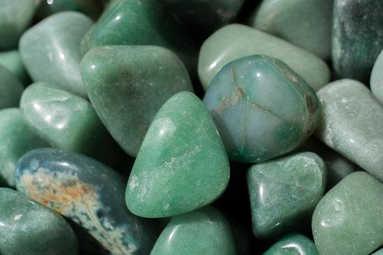 aventurine gem stone as natural mineral rock