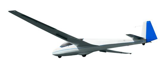 Glider on white background