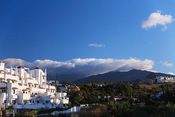 Modern residential buildings in southern Spain. Costa del sol. Andalusiya.