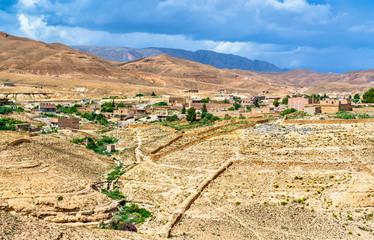 Panorama of Ghoufi Canyon in Algeria