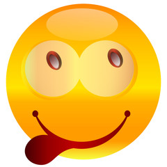 Smiley. Vector happy face.