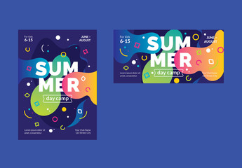 Colorful Abstract Flyer Layouts