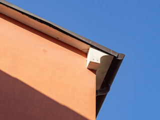Urban architecture - building cover, eaves