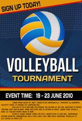 Volleyball tournament flyer or poster