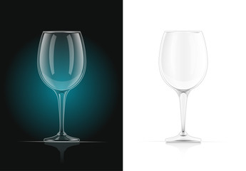Wine glass. Alcohol and drink beverage. EPS10 vector