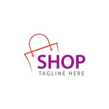 Shop Logo Vector Template Design Illustration