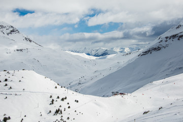 Mountains from Cerler winter resort. Spain.