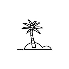 palm tree dusk style icon. Element of travel icon for mobile concept and web apps. Thin line palm tree dusk style icon can be used for web and mobile