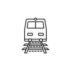 a train dusk style icon. Element of travel icon for mobile concept and web apps. Thin line a train dusk style icon can be used for web and mobile
