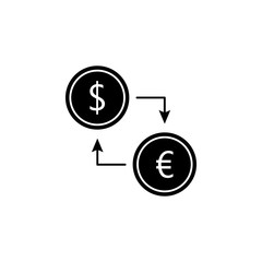 currency exchange icon. Element of web icon for mobile concept and web apps. Glyph currency exchange icon can be used for web and mobile