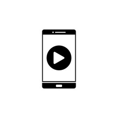 player in phone icon. Element of web icon for mobile concept and web apps. Glyph player in phone icon can be used for web and mobile
