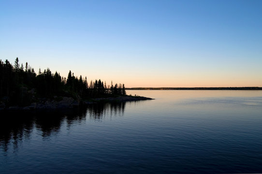 Beautiful Northern Canada Seascape at Sunset