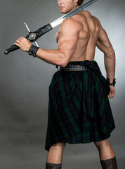 Highlander Man in Kilt