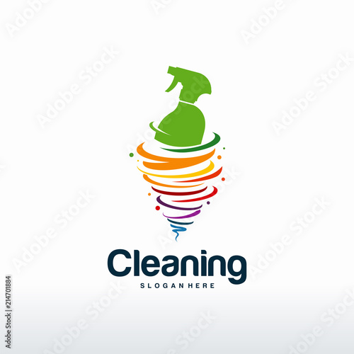 Cleaning logo designs concept vector, Tornado cleaning logo template ...