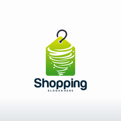 Shopping logo designs concept vector, Twist Sale logo template
