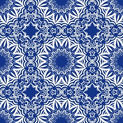 Unique, abstract floral color pattern. Seamless vector illustration. For design, wallpaper, background, fantastic print.