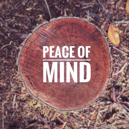 Motivational And Inspirational Quote Peace Of Mind Written On