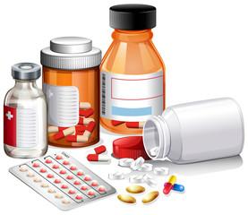 A set of medicine and prescription
