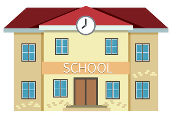 A yellow school building