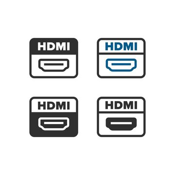 HDMI port icons