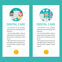 Dental care. Vector illustration in flat style.