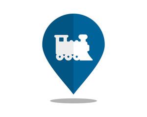 train marker pin path image vector icon logo