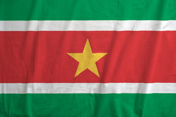 Flag of Suriname waving.
