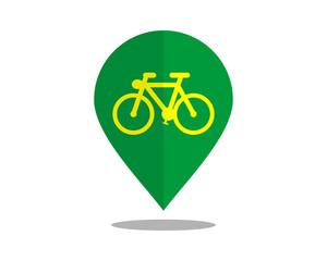biker marker pin path image vector icon logo