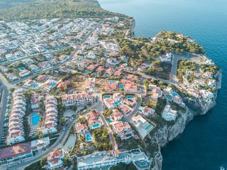 Aerial Above View Yachts Beach Mediterranean Sea Blue Water