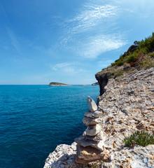 Summer rocky sea coast, Gargano, Puglia, Italy
