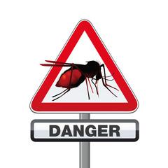 moustique, panneau, danger, insecte, nuisible, épidémie, virus, zika, dengue, piqûre