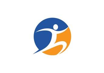 Run people Healthy Life Logo