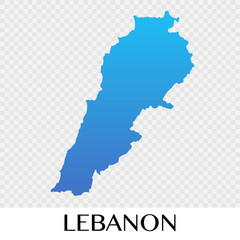 Lebanon map in Asia continent illustration design