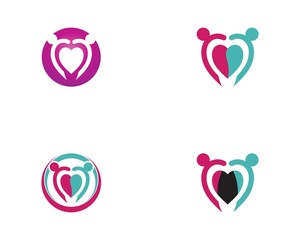 Love people logo vector template