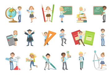 Kids With Giant School Attributes