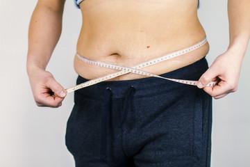 Fat man's body