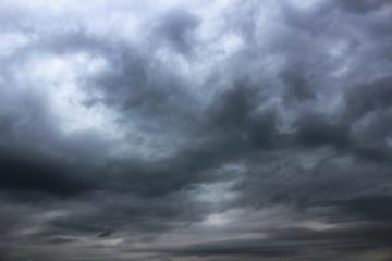 Dark cloudy sky landscape
