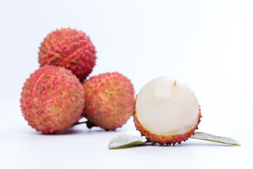 litchi with white background
