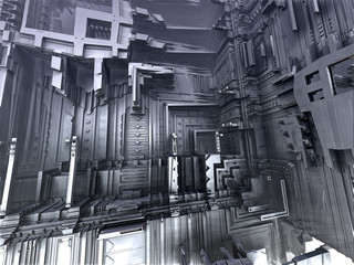 Abstract 3D Interior