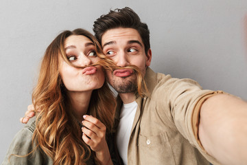 Portrait of a cheerful young couple