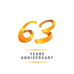 63 years golden anniversary celebration logo , isolated on white background