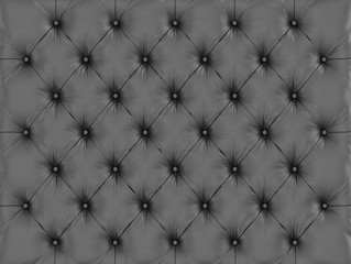 A black capitone leather