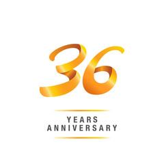 36 years golden anniversary celebration logo , isolated on white background