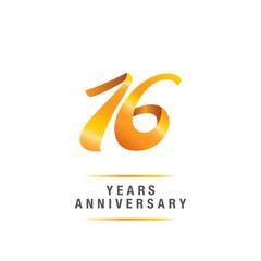 16 years golden anniversary celebration logo , isolated on white background